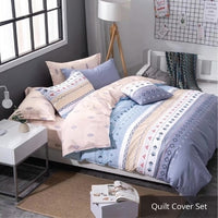 Aussino Inspire Moonlight Fitted Sheet Set / Quilt Cover Set