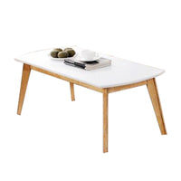 SOMERSET SCANDINAVIAN SOLID WOOD COFFEE TABLE-WHITE