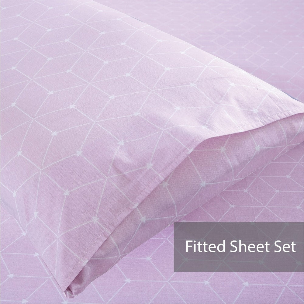 Rosetta 100% Cotton Fitted Sheet Set / Quilt Cover