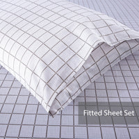 Jardin 100% Cotton Fitted Sheet Set / Quilt Cover