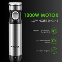 Aicook LB2109 Powerful 1000W 4 in 1 Ultra-Quick Smart Stepless Speed 1