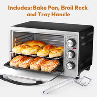 AICOOK GH23 23L 1500W Toaster Oven Slices Bread Countertop Speedbaking