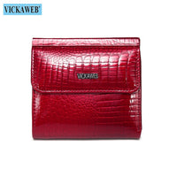 VICKAWEB Mini Wallet Women Wallets Fashion Alligator Hasp Short Wallet Female Small Woman Wallets And Purses 209