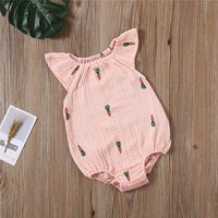 Baby Girls Romper Summer Infant Unisex Newborn Sleeveless Girls Print One-pieces Jumpsuit Baby Cotton Linen Soft Clothes Outfits
