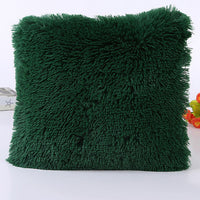 43*43cm Soft Fur Plush Furry Cushion Cover New Pillow Case Decorative Throw Home Bed Room Sofa Decor Car Decoration Pillowcase