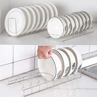 Kitchen Organizer Stainless Steel Dish Bowl Rack Drying Shelf Utensil Cutlery Drainer Storage Holder