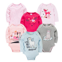 Kavkas Baby Boys Girls Bodysuit 6 PCS 3 PCS Long Sleeve 100% Cotton Baby Clothes 0-12 months Newborn body bebe Jumpsuit Clothing