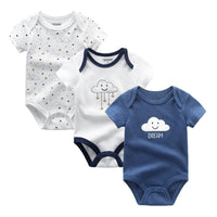 2021 3PCS/Lot Baby Boy Clothes BodysuIts Baby Girl Clothes Unicorn Girls Clothing Unisex 0-12M Baby Bodysuits Roupas de bebe