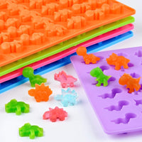 Multi-Purpose Cute Little Dinosaur Silicone Mold Chocolate Mold Ice Tray Mold Soft Candy Mold DIY Kitchen Cake Mold Tool