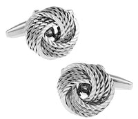 Black Cufflinks for men fashion knot design copper cufflinks