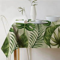 Table cloth Rectangular Pastoral style Tropical Plants Printed Tablecloth Home Protection and decoration Elegant Table cover