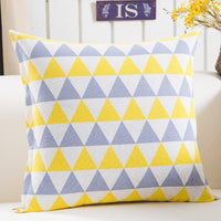 Colorful Geometry pattern Cushion cover Geometric Printed pillowcases Linen cotton Pillow covers Sofa 45x45cm cushion cover