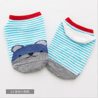 Lytwtw's Baby Floor Boy Girl Kids Children Smile Infant Cotton Anti Skid Slip Toddler Slipper Sock Striped Newborn cheap stuff