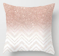 ZENGIA Pink Geometric Nordic Cushion Cover Tropic Pineapple Throw Pillow Cover Polyester Cushion Case Sofa Bed Decorative Pillow