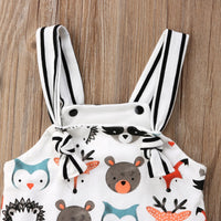 Summer Toddler Infant Newborn Baby Girls Boys Romper 0-24M Sleeveless Cartoon Animal Jumpsuits Sunsuit Playsuit