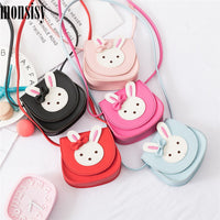 Monsisy Girl Coin Purse Handbag Children Wallet Small Coin Box Bag Cute Rabbit Kid Money Bag Baby Shoulder Bag Change Purse