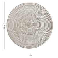 Round Design Table Ramie Insulation Pad Solid Placemats Linen Non Slip Table Mat Kitchen Accessories Decoration Home Pad Coaster