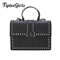 Women Bags Handbags Women Messenger Bags Cover Rivet Bag Girls Fashion Shoulder Bag Ladies PU Handbags
