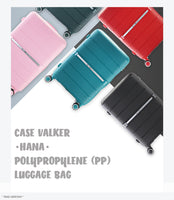 Case Valker Signature HANA Unbreakable Polypropylene 2 In 1 TSA PP Luggage Bag in Pink (20 + 24 )