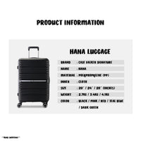 Case Valker Signature HANA Unbreakable Polypropylene 3 In 1 TSA PP Luggage Bag in Teal Blue (20 + 24 + 28 )