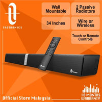 Taotronics SK15 34' Wall Mountable Powerful Stereo Soundbar