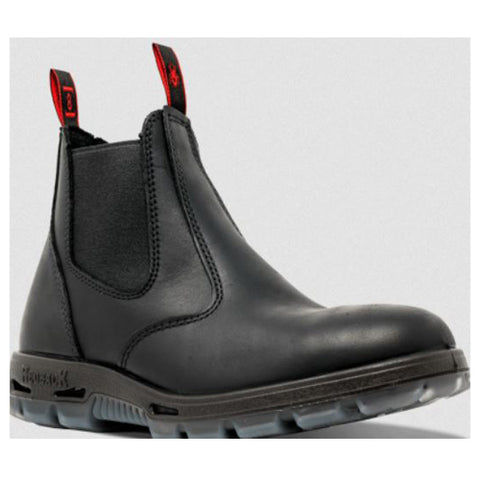 Redback Elastic Sided Work Boot Black UBBK