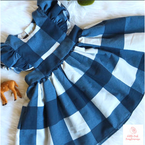 Winter Blues Pinafore