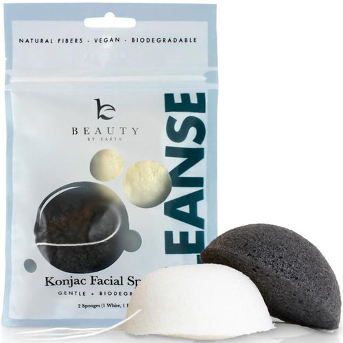 Beauty By Earth Konjac Facial Sponges - Ihonhoitosieni 2 kpl