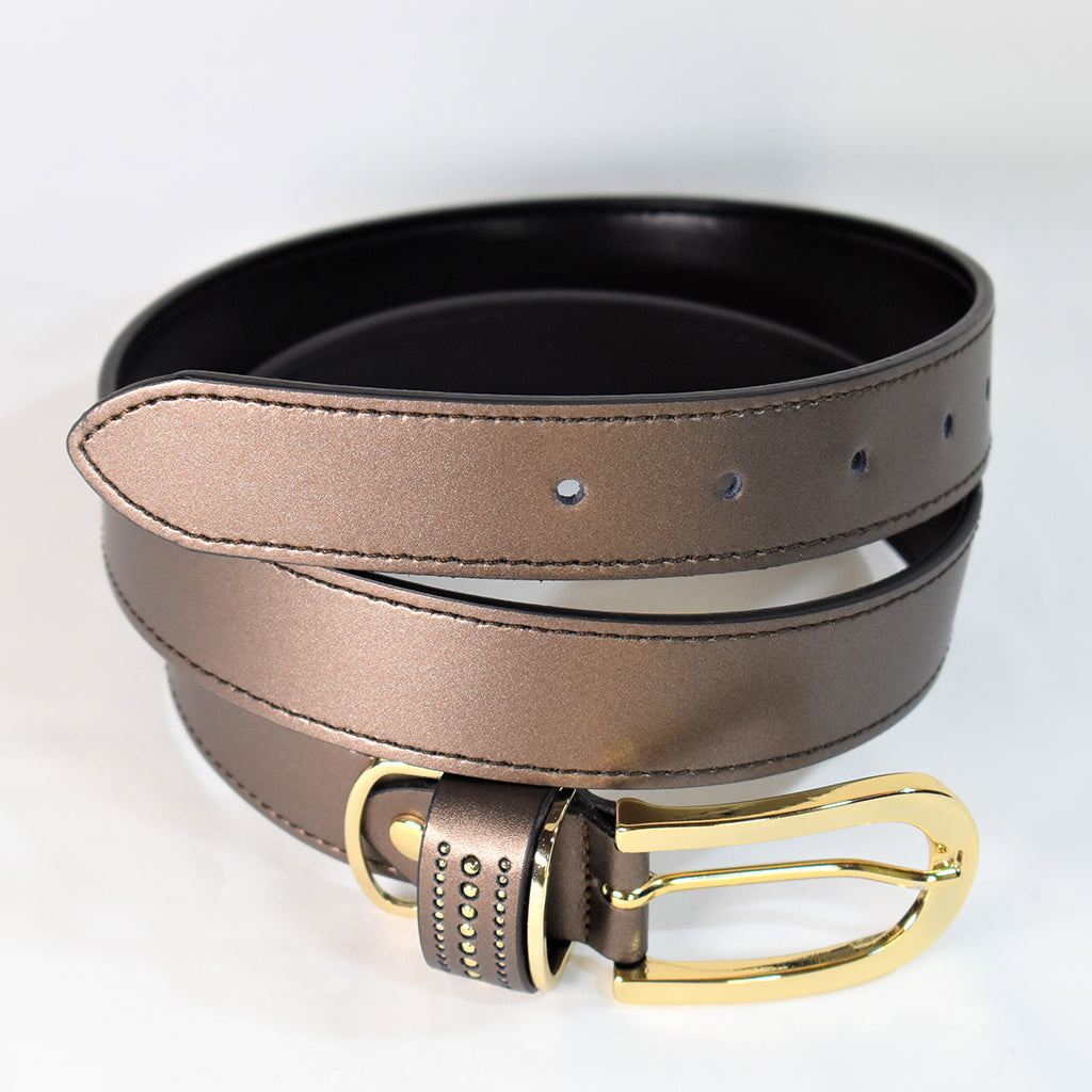 Metallic Bronze Belt