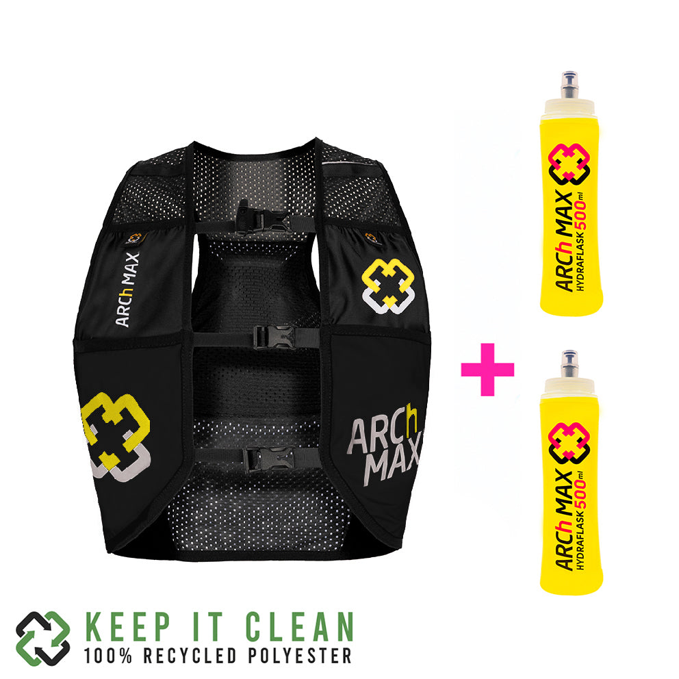 HV-4.5 Black/Yellow + 2 Soft Flask 500ml ARCh MAX