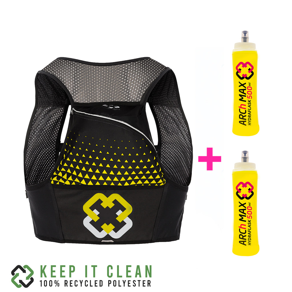 HV-8 Ultra Yellow/Black + 2 Softflask 500ml (M)