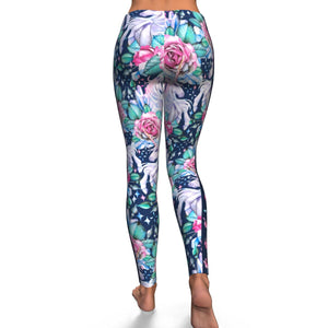 Unicorn Roses Yoga legging
