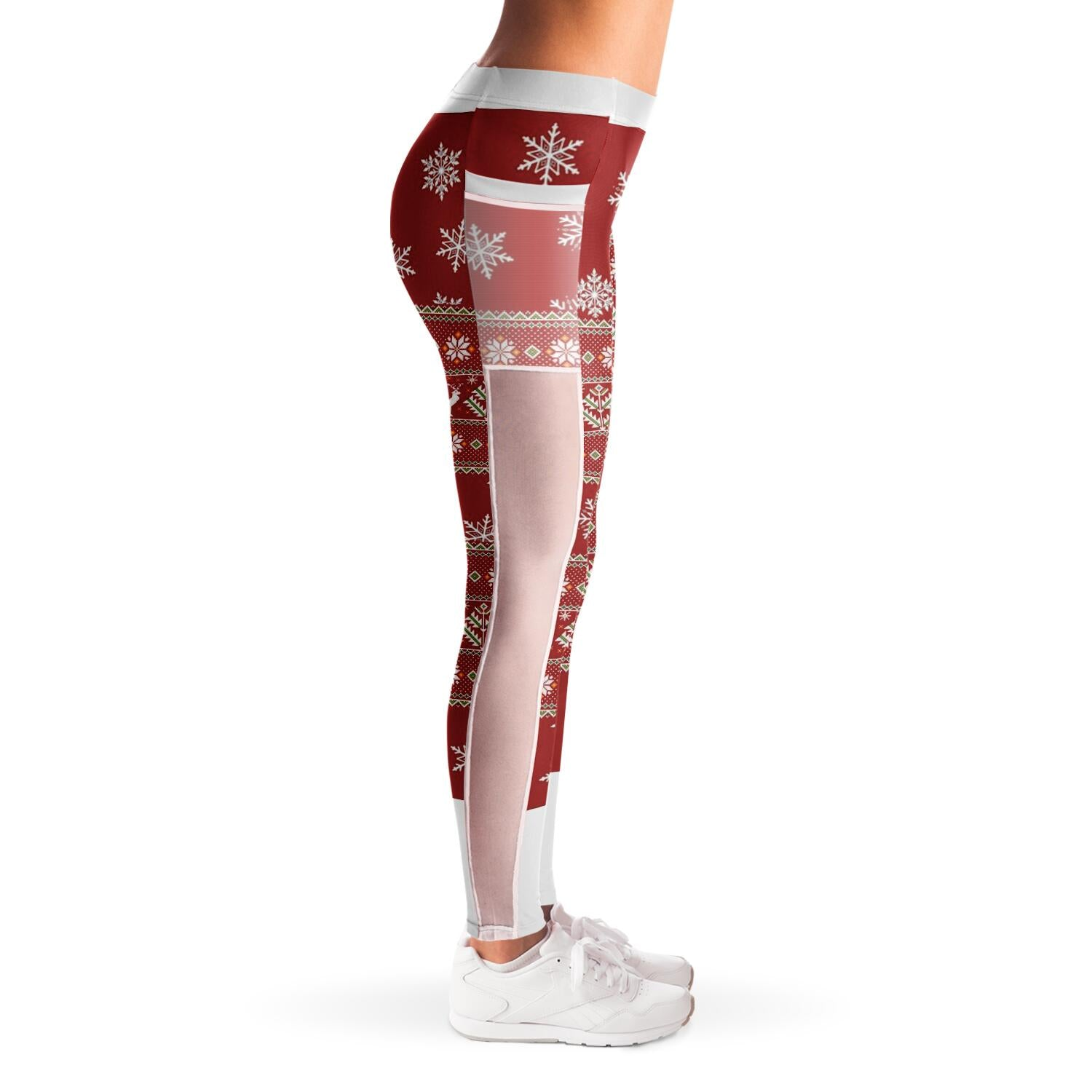 Christmas Mesh Pocket Leggings