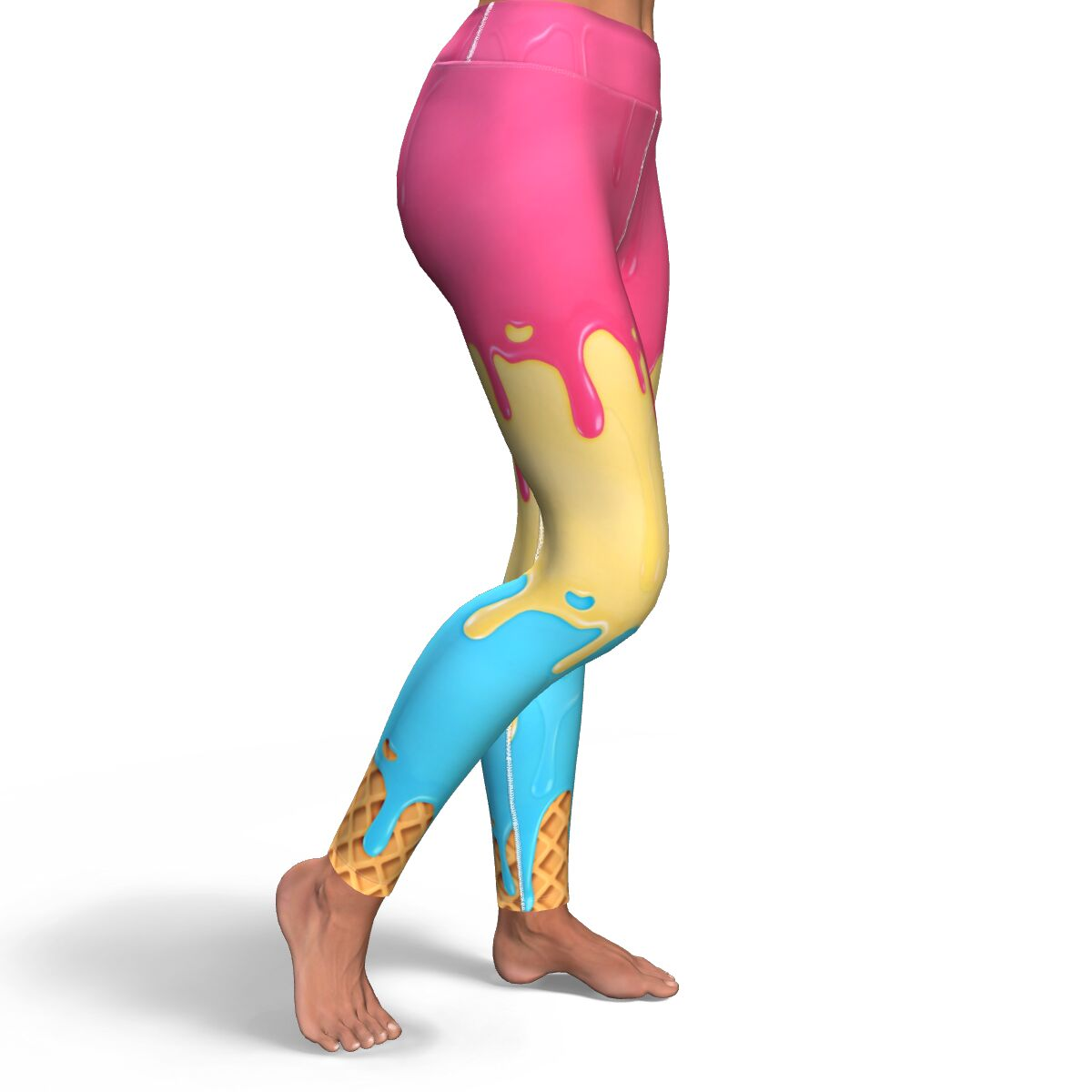Dripping Ice Cream yoga legging