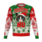Dashing Through A No Grumpy Cat Ugly Christmas Sweatshirt - XS - S - M - L - XL - 2XL - 3XL - 4XL