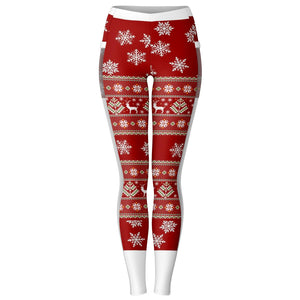Christmas Mesh Pocket Leggings - XS - S - M - L - XL