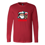 Cheers Santa Christmas Tops - Canvas Long Sleeve Shirt / Red / S - Canvas Long Sleeve Shirt / Red / M - Canvas Long Sleeve Shirt / Red / L - Canvas Long Sleeve Shirt / Red / XL - Canvas Long Sleeve Shirt / Red / 2XL