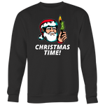 Christmas Time Funny Top - Crewneck Sweatshirt Big Print / Black / S - Crewneck Sweatshirt Big Print / Black / M - Crewneck Sweatshirt Big Print / Black / L - Crewneck Sweatshirt Big Print / Black / XL - Crewneck Sweatshirt Big Print / Black / 2XL