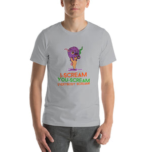 Halloween Ice Cream T Shirt - Silver / S - Silver / M - Silver / L - Silver / XL - Silver / 2XL