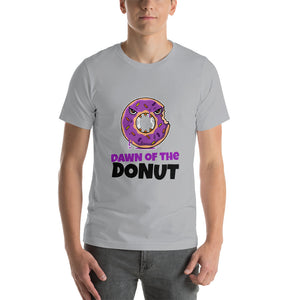 Dawn of the donut Halloween T shirt - Silver / S - Silver / M - Silver / L - Silver / XL - Silver / 2XL