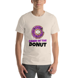 Dawn of the donut Halloween T shirt - Soft Cream / S - Soft Cream / M - Soft Cream / L - Soft Cream / XL - Soft Cream / 2XL - Soft Cream / 3XL - Soft Cream / 4XL