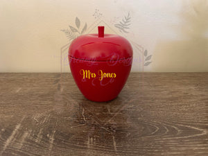 Personalised Apple Candle