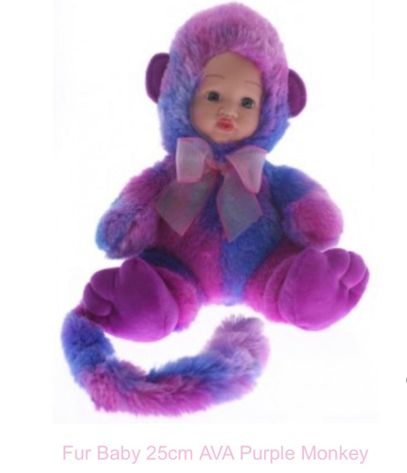 Plus Baby Doll Ava Purple Monkey