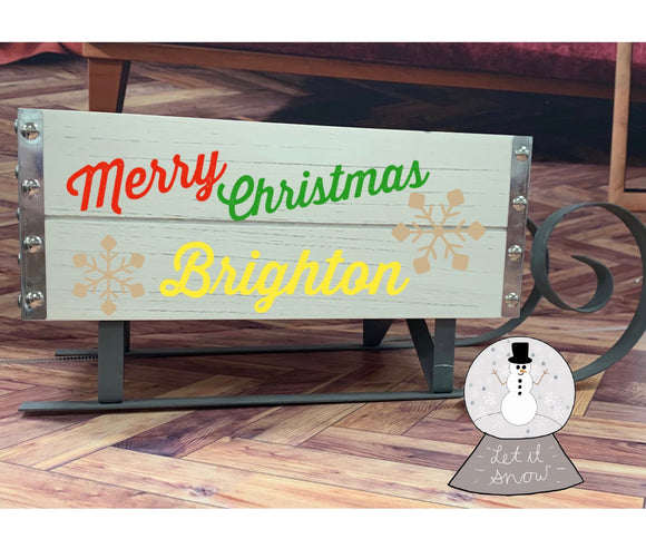 Personalised Wooden sleigh