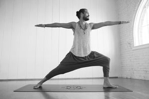 Sacred-Yoga-Mat-Pose-Warrior-One-Pants-Vinyasa-Man