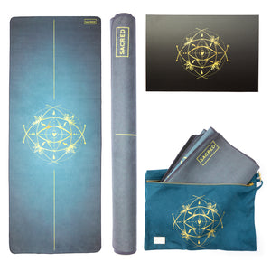 TRAVEL MAT / MAT TOPPER — AQUA