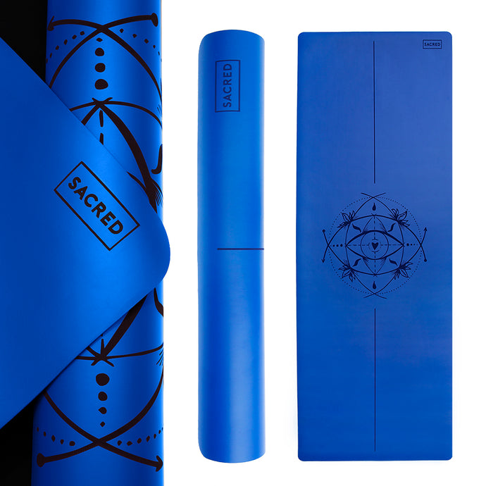 PRO SACRED EYE YOGA MAT (EGYPTIAN BLUE)