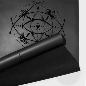 PRO SACRED EYE YOGA MAT (BLACK CHARCOAL)