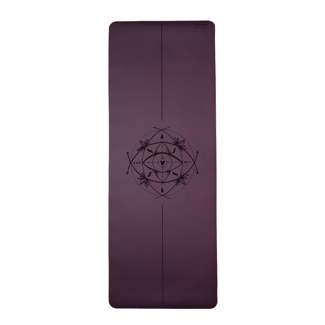 239418e5c4333 Sacred Yoga Mat • Purple Plum • Non-Slip Eco-Friendly Rubber Yoga Mat