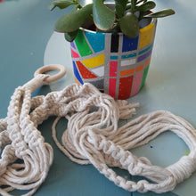 Load image into Gallery viewer, D.I.Y. Kits: Pot painting and macrame plant hanger